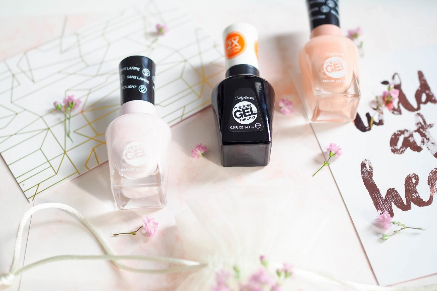 Get a simply charming look with the new Spring Miracle Gel collection of Sally Hansen