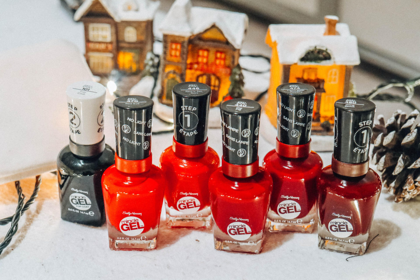 It's a holiday miracle with the five red nail polishes from Sally Hansen
