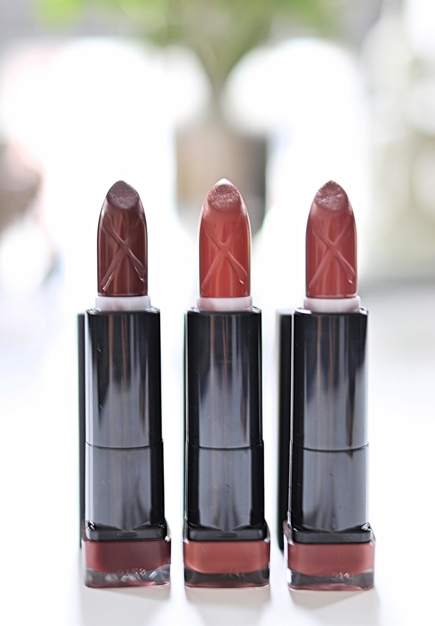 Three beautiful Color Elixir Velvet Matte Lipstick shades from Max Factor!